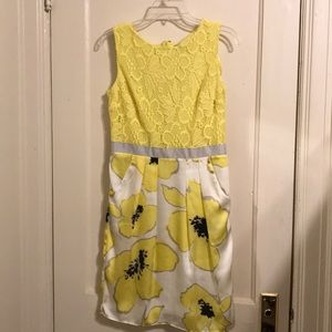 Yellow crocheted top party dress